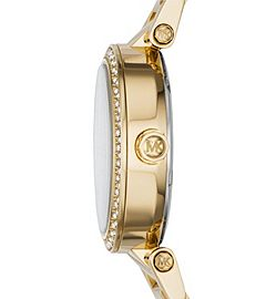 9fe940c93bf Parker Pavé Gold-Tone Watch by Michael Kors