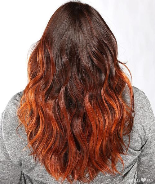 60 Best Ombre Hair Color Ideas For Blond Brown Red And Black Hair Hair Styles Copper Hair Color Orange Hair