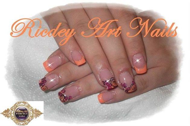 orange pink by RicdeyArtNails - Nail Art Gallery nailartgallery.nailsmag.com by Nails Magazine www.nailsmag.com #nailart