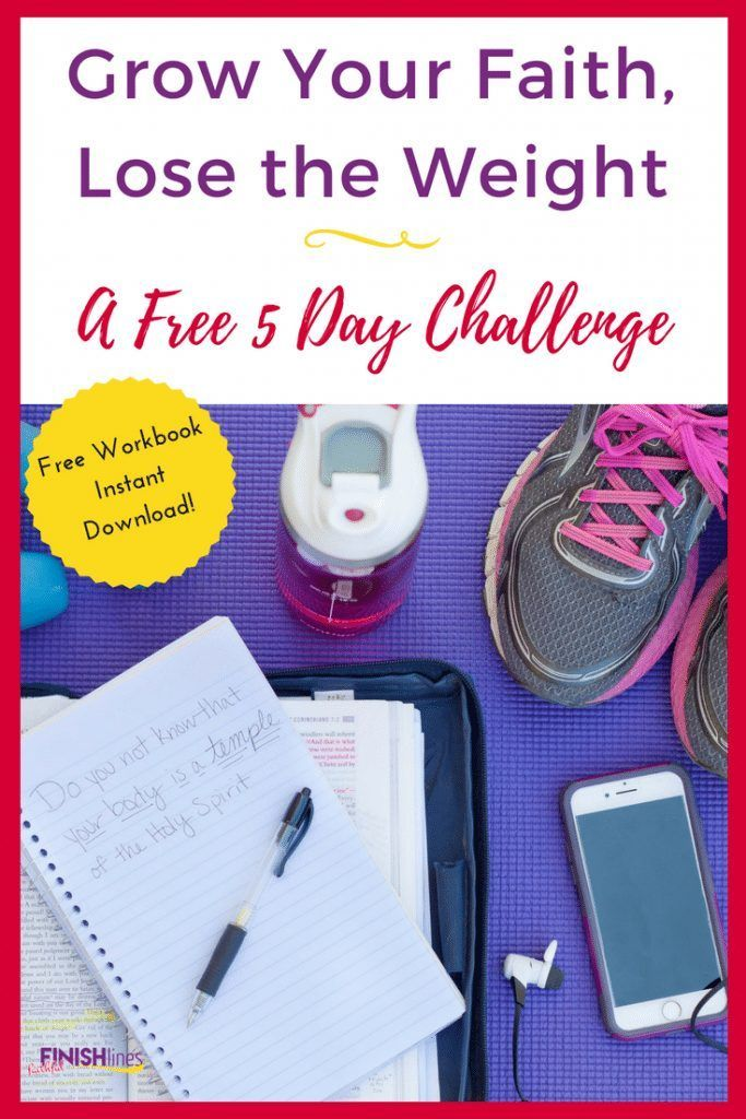 Free Christian Weight Loss Challenge: Grow Your Faith, Lose the Weight The Holy Mess #exerciseyourfa...