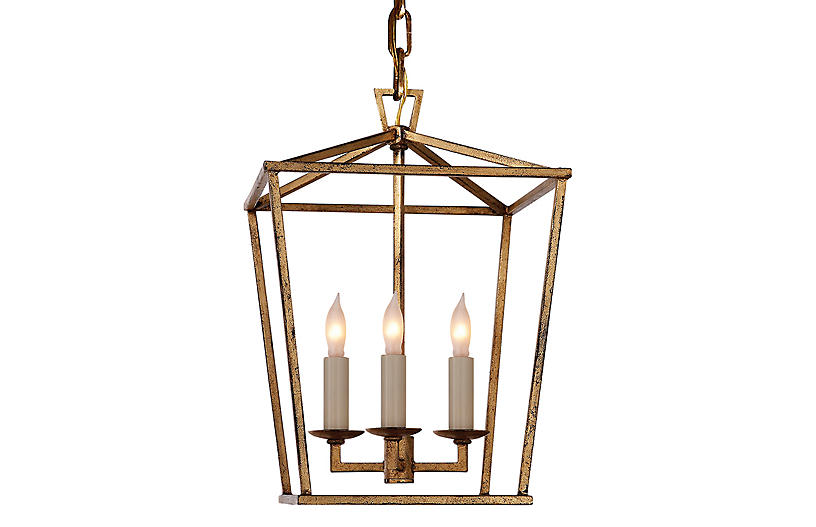 Visual Comfort Darlana mini lantern Gilded Iron finish