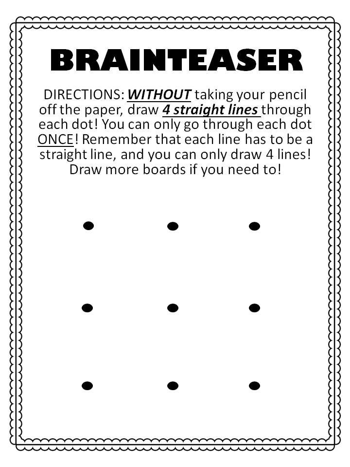 Great Brainteaser for students! And great first week ...