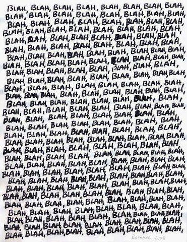 Blah, blah, blah... Art criticism, Typography, Words