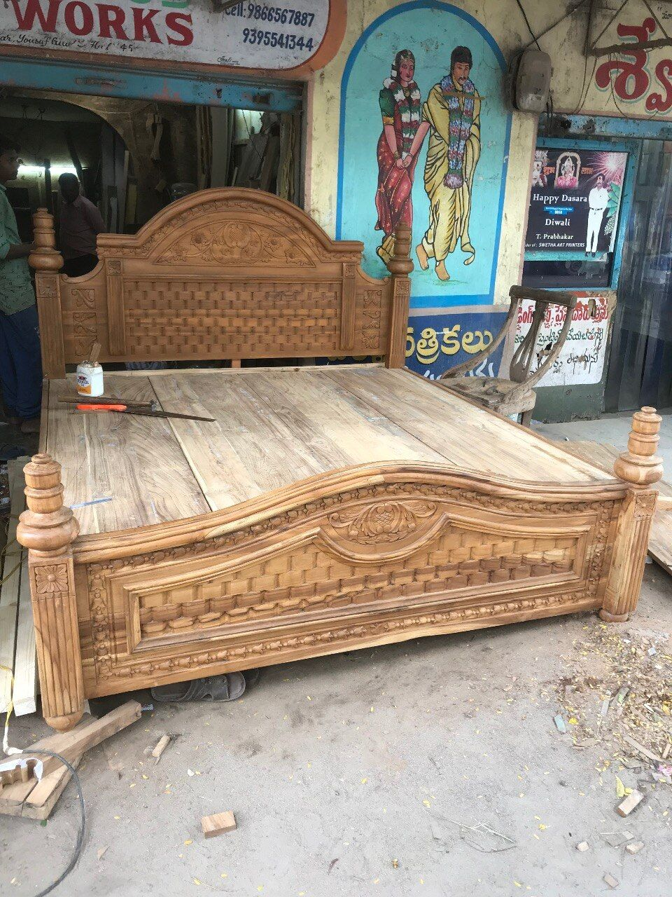 Mbk Wood Carving Works 08042753759 In Hyderabad India In 2020 Wood Bed Design Wooden Sofa Set Wooden Sofa