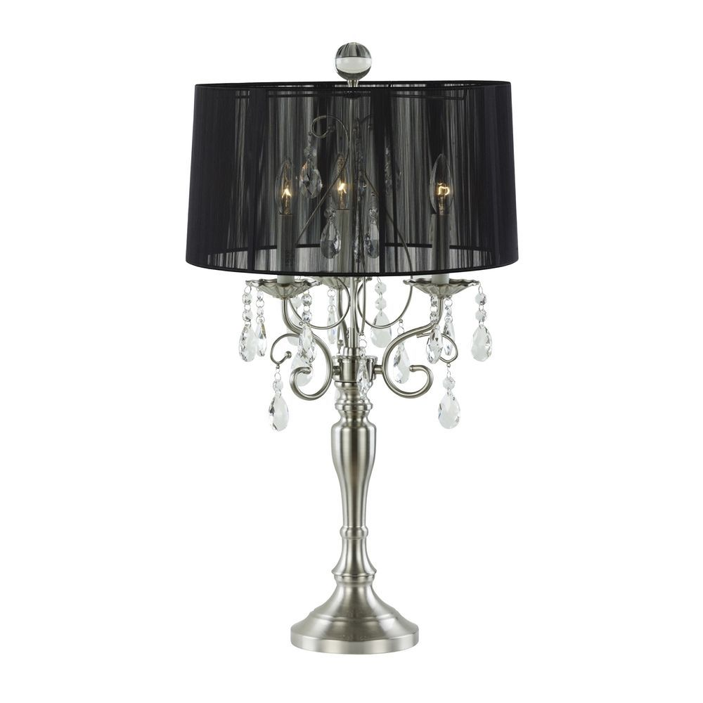 Ashford classics lighting crystal chandelier table lamp with drum ashford classics lighting crystal chandelier table lamp with drum shade 2239 09 aloadofball Images