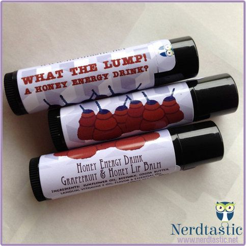 DISCONTINUED:  What the Lump! A Honey Energy Drink (Grapefruit Honey)  Lip Balm Tube