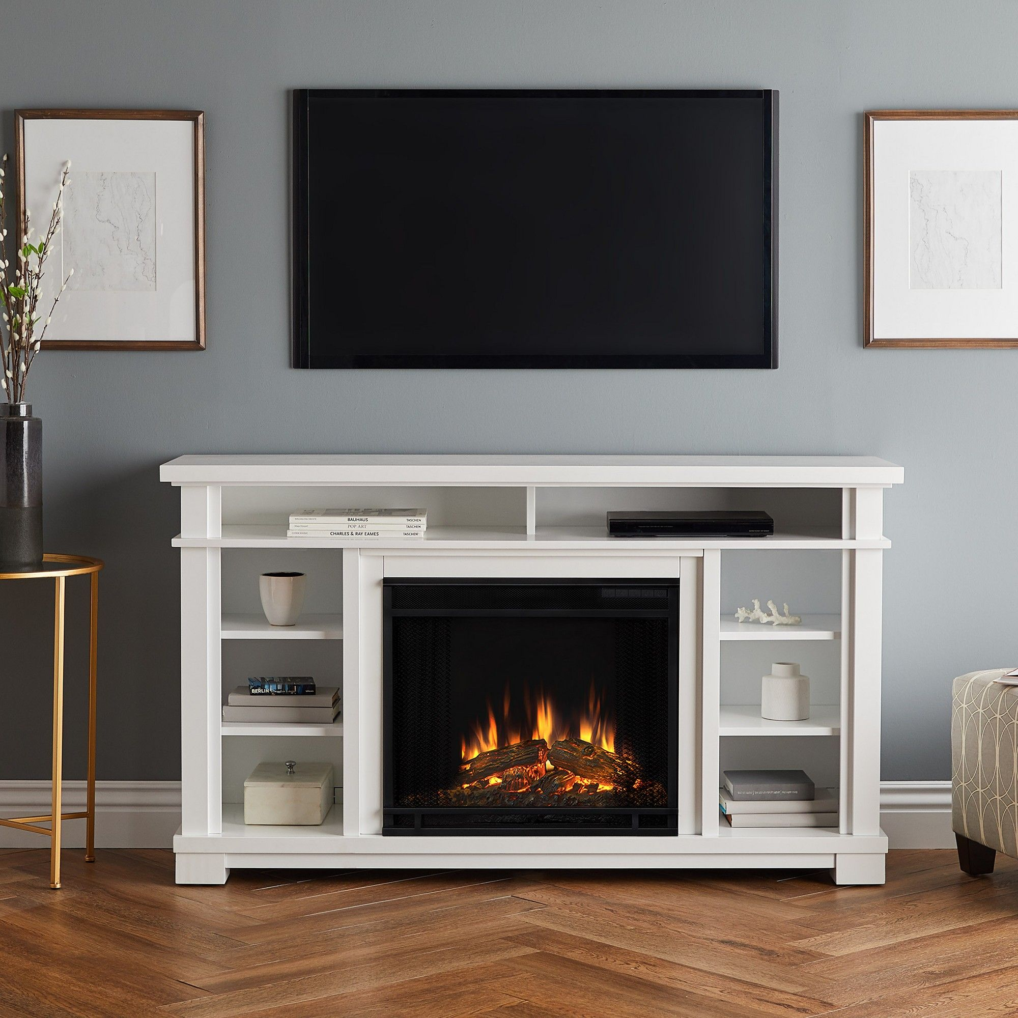 56 Belford Electric Fireplace Entertainment Center White Real Electric Fireplace Entertainment Center Fireplace Entertainment Center Fireplace Entertainment