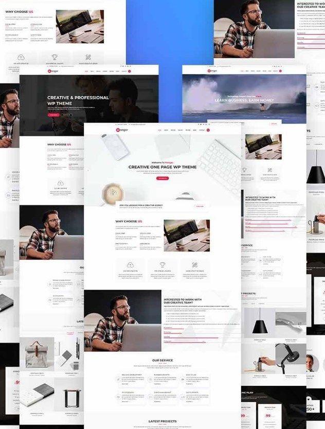 Monger - One Page WordPress Theme