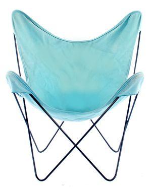 Vintage Butterfly Chair Turquoise Cloth Casas En La