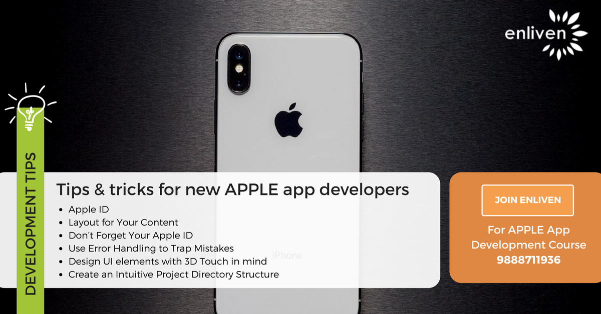 Few basic iOS App development tips for you. Take a look