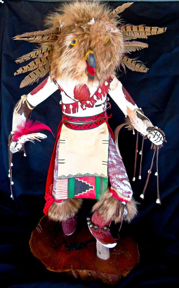 "Vintage Large 29"" Tall Carved Owl Dancer Katchina Katsina by Navajo Artist Begay ***ALSO SEE Vintage Jewelry at: http://stores.ebay.com/My-Classic-Jewelry-Shop"