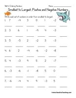 Ordering Positive And Negative Numbers Worksheet Have Fun Teaching