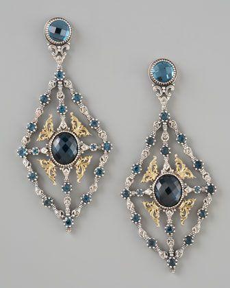 Konstantino London Blue Topaz Chandelier Earrings gVyc8c