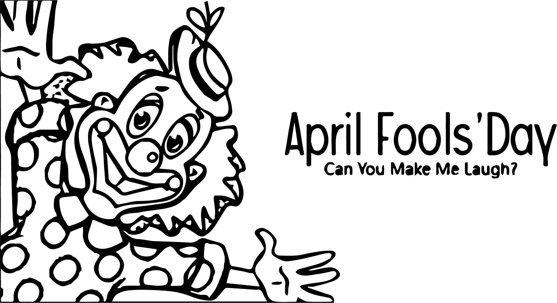 Awesome April Fool Day Coloring Page