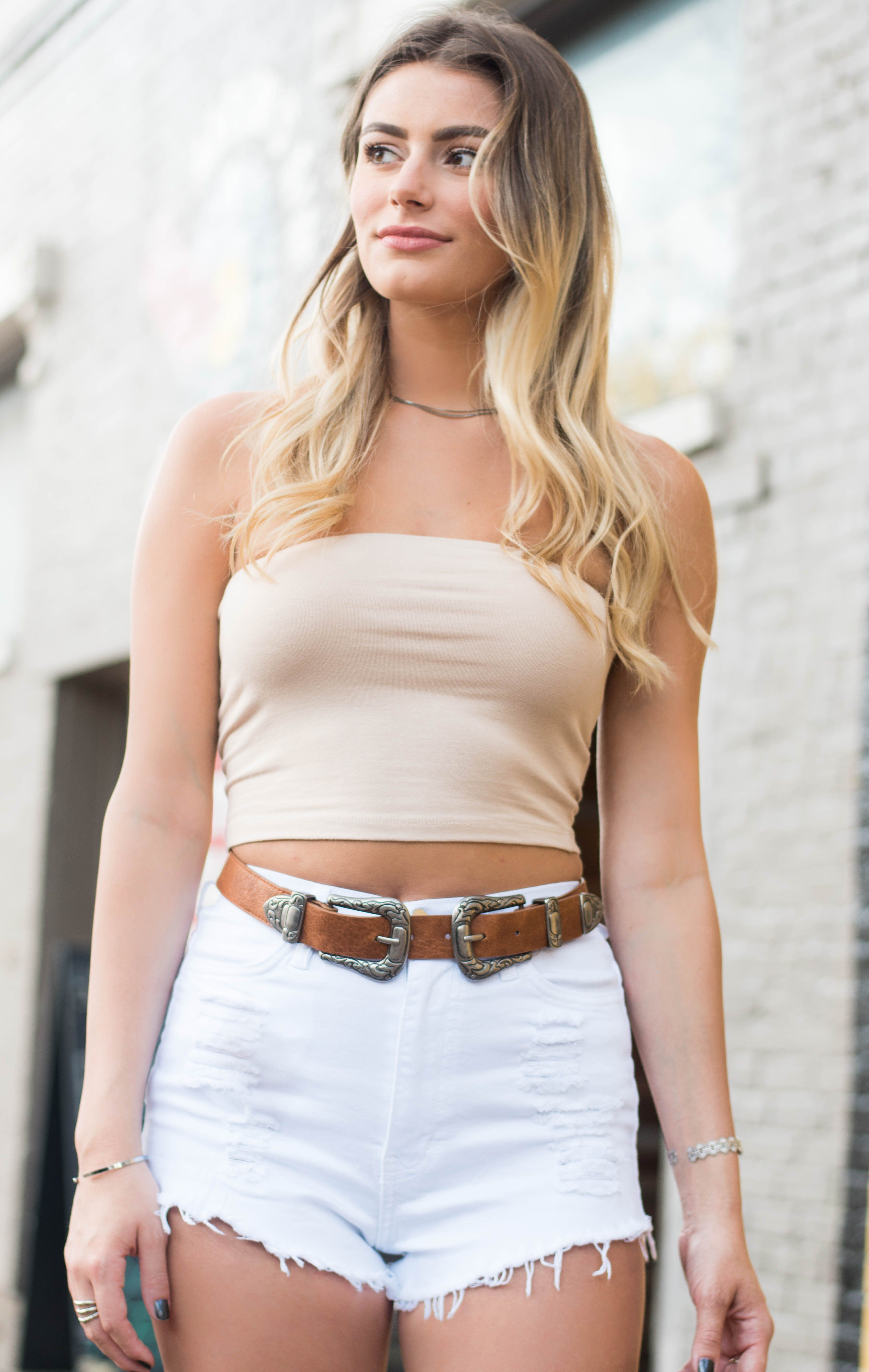 28aa0bed2e56e3 Cotton Tube Top is a basic strapless crop top. - Hand Wash