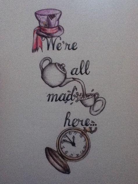 46 Ideas Tattoo Ideas Alice In Wonderland Drawings For 2019