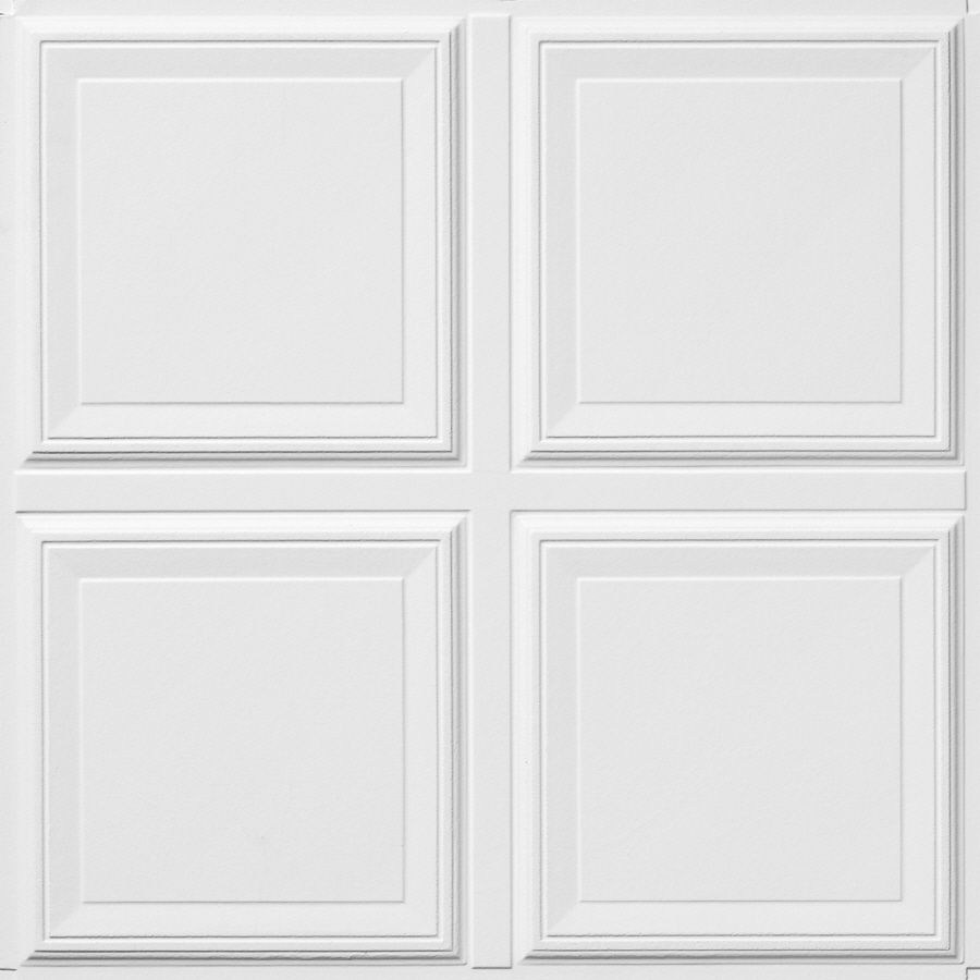 Shop armstrong raised panel homestyle 6 pack white 1516 in drop armstrong ceilings raised panel homestyle white patterned drop acoustic panel ceiling tiles common x actual x dailygadgetfo Gallery