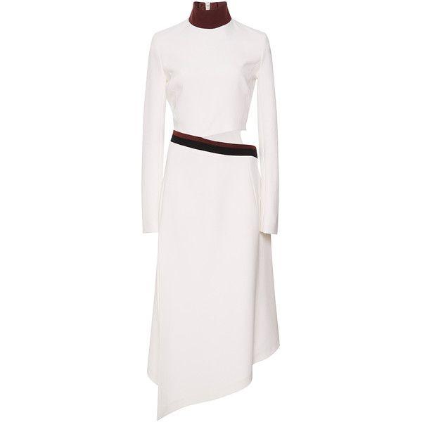 a616ba2d000 MUGLER Crepe Satin and Fitted Cady Long Sleeve Asymmetrical Dress  (47.356.715 VND)