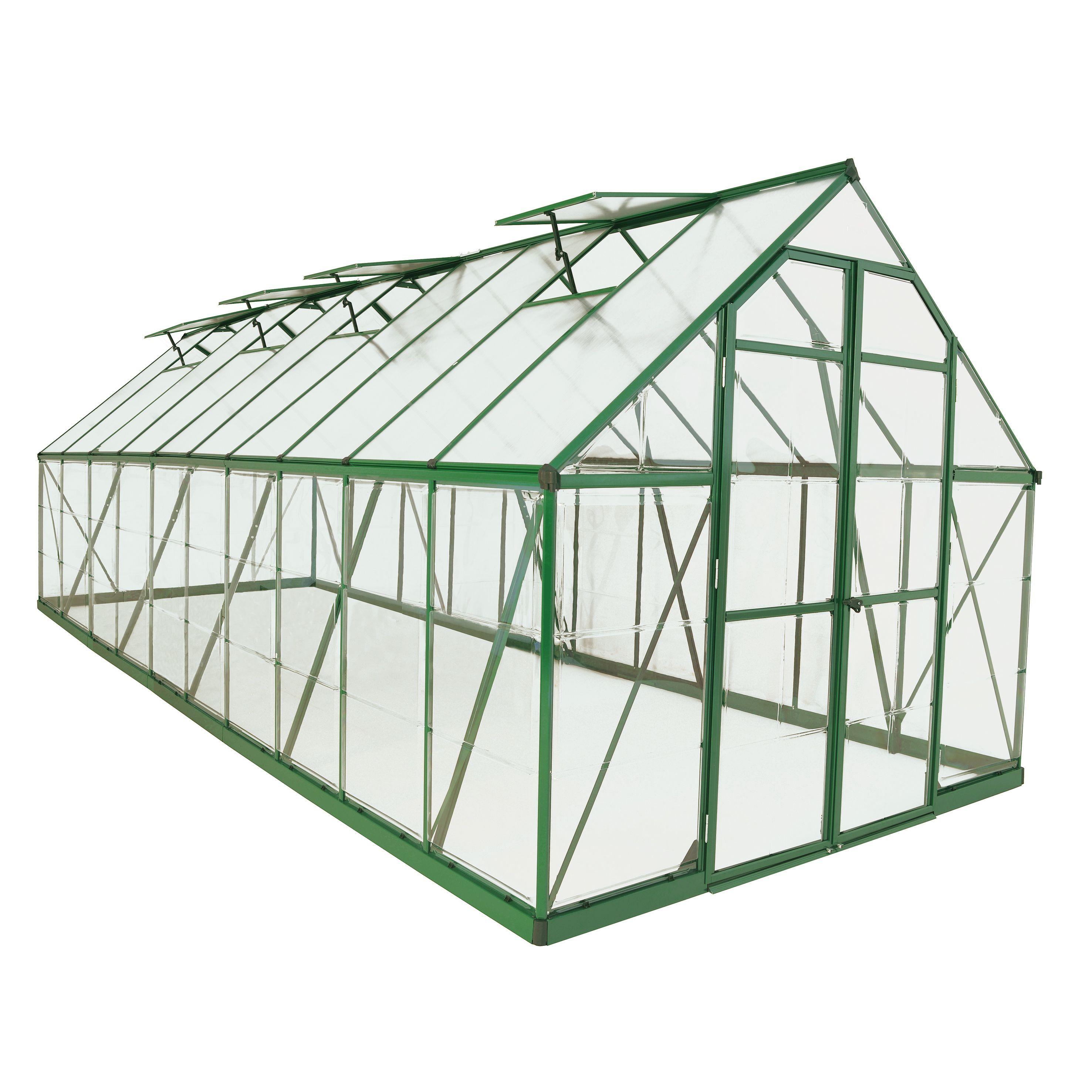 Palram Green Balance 8x20 Greenhouse (Green Balance 8\' x 20 ...