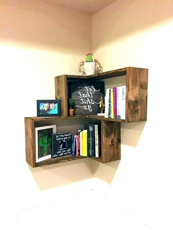 Nice 15 Awesome Corner Floating Shelves Ideas That Inspire You Https Dsgndcr Com Home Interior Ideas 15 Awesome C Floating Shelves Corner Shelf Ideas Shelves