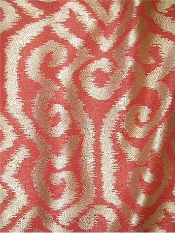 Currier Geranium   Ikat Damask Jacquard Decorator Fabric. Soft U0026 Durable.  Perfect For Window