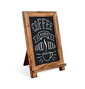 Amazon.com : Rustic Torched Wood Tabletop Chalkboard / Vintage Wedding  Table Sign / Small