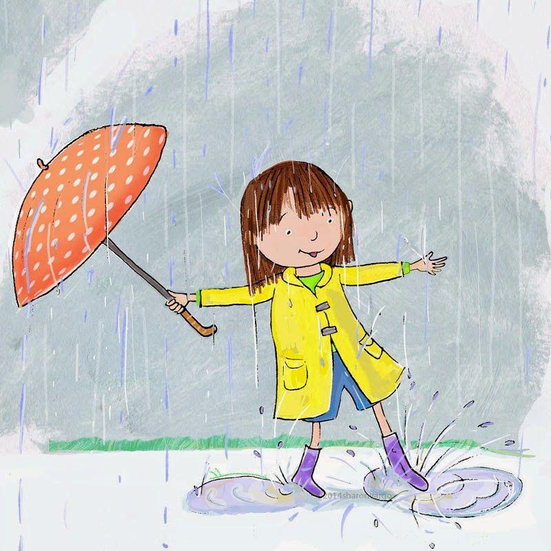 Rainy Day Walk By Sharon Vargo 雨ー傘 Rain Painting Rainy Day
