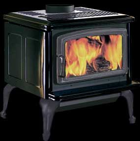 Pacific Energy Summit Classic Wood Stove Black With Matte Black