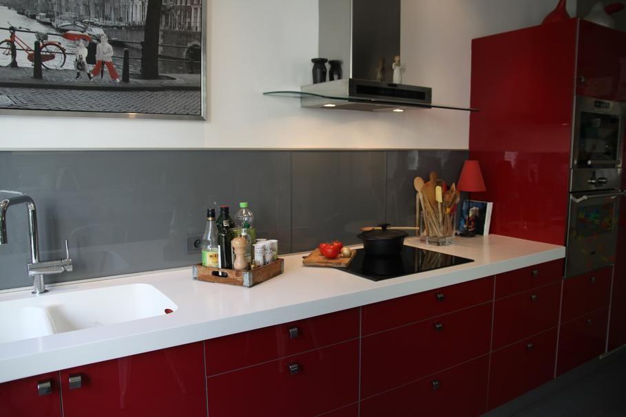 intérieur rouge et blanc idee déco cuisine blanc et rouge