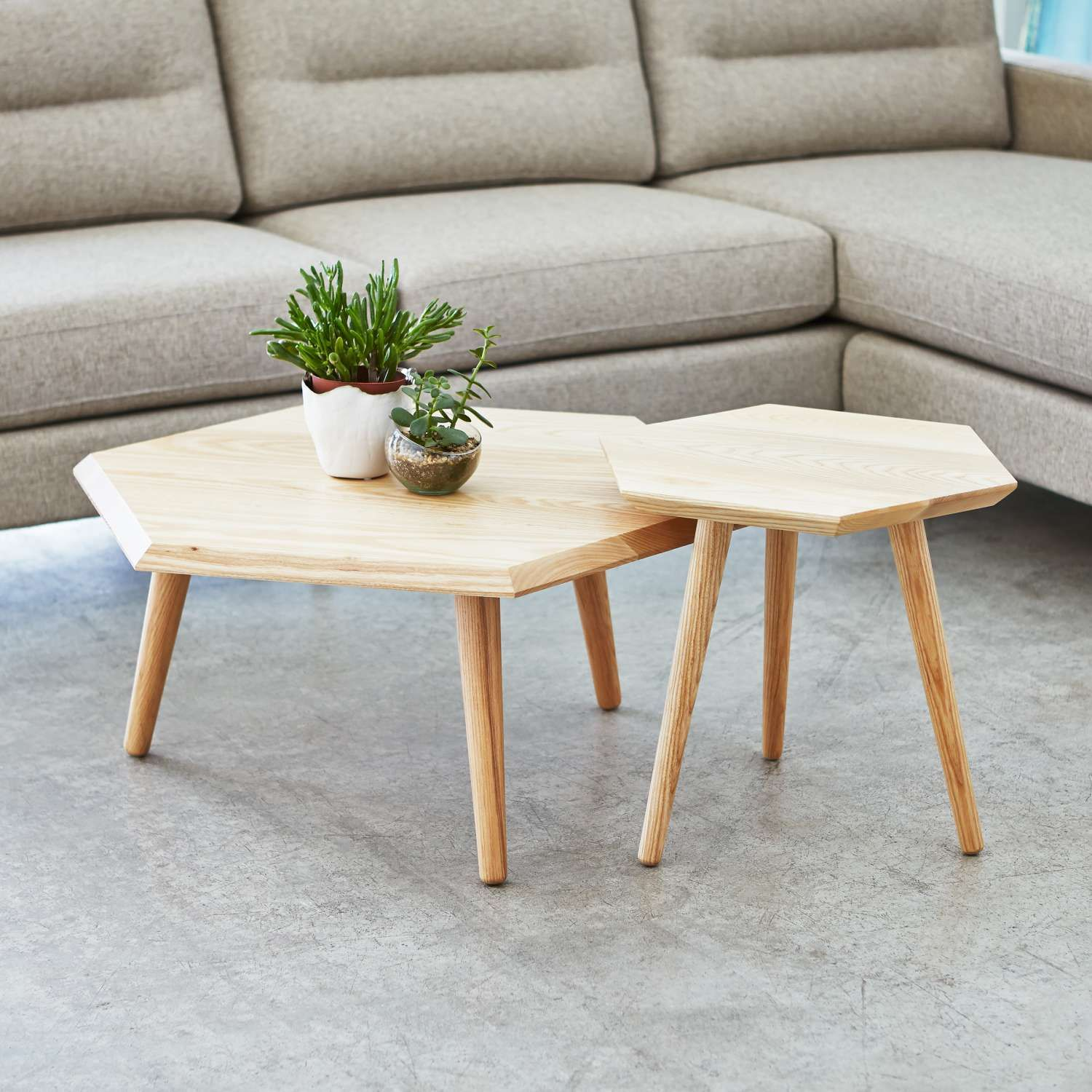 Ash In Use With Metric End Table Hexagon Coffee Table Coffee Table Wooden Coffee Table [ 1500 x 1500 Pixel ]