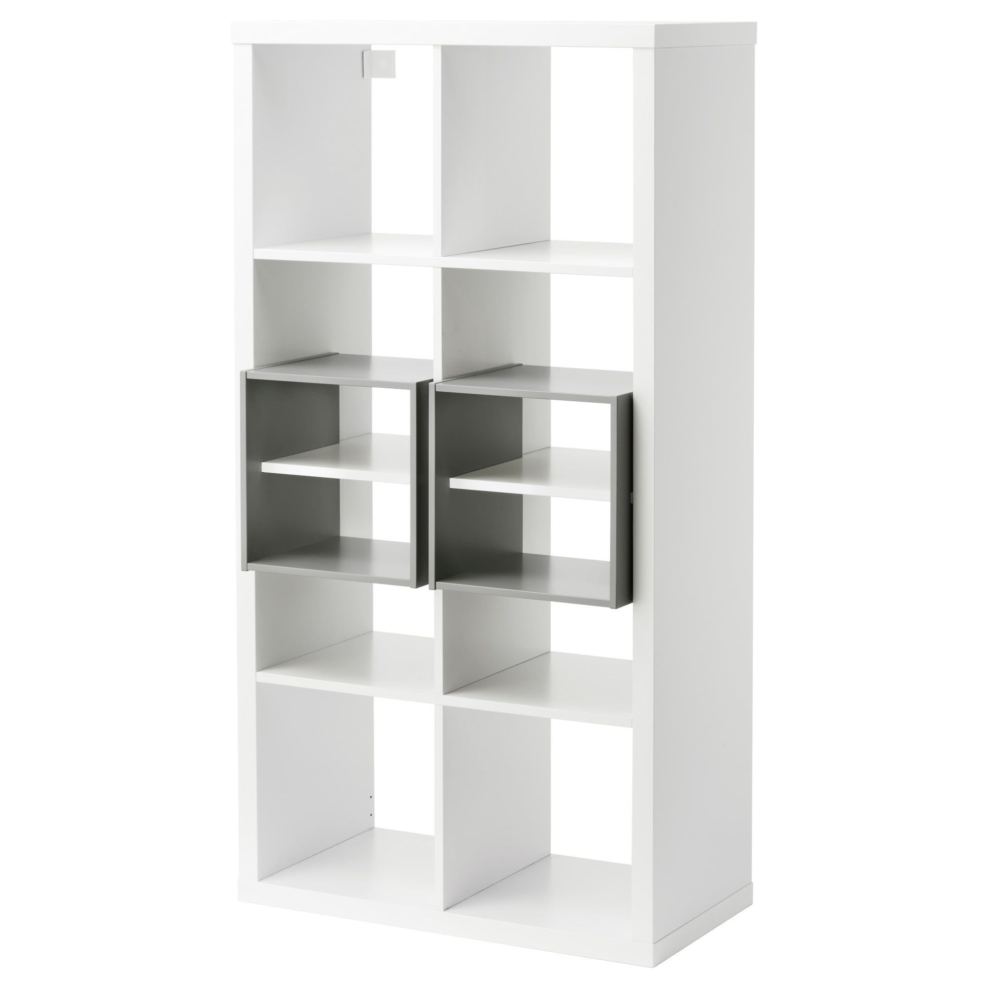 Kallax Regal Mit 2 Einsatzen Weiss Ikea Regal Schrank Planen