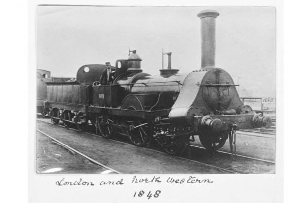 London & North Western Railway 2-4-0 locomotive, 1848. The railway operated between London & Glasgow.