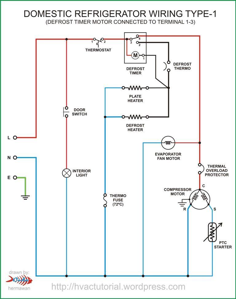 refrigerator wiring type1  circuit diagram electrical