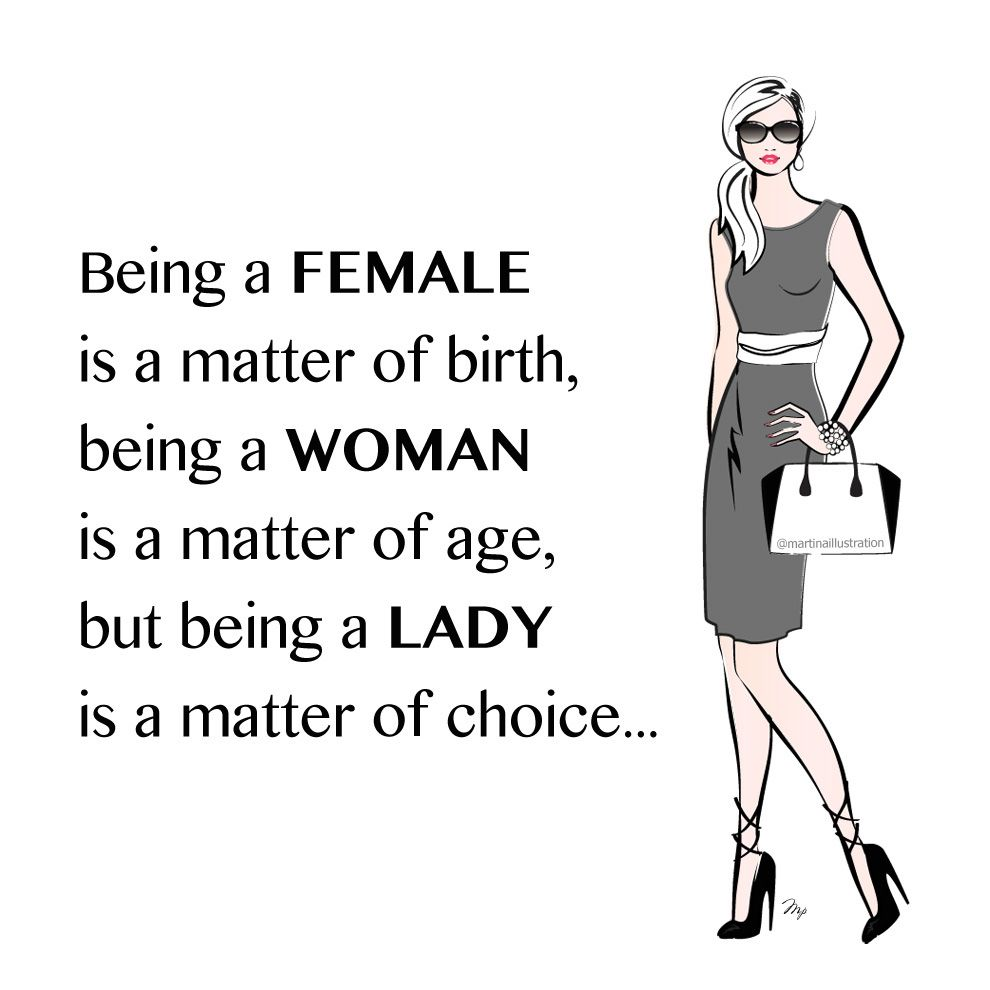be a lady fashion quote