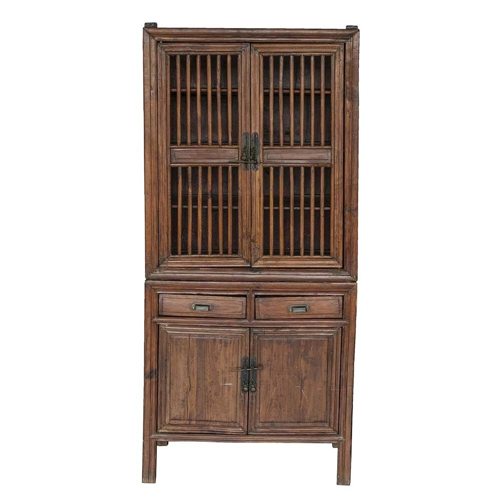 Chinese Kitchen Cabinet Storage For Fruit And Vegetables In Top Chicken And Fowl In Bottom Chinese Kitchen Cabinets Kitchen Cabinet Storage Kitchen Cabinets