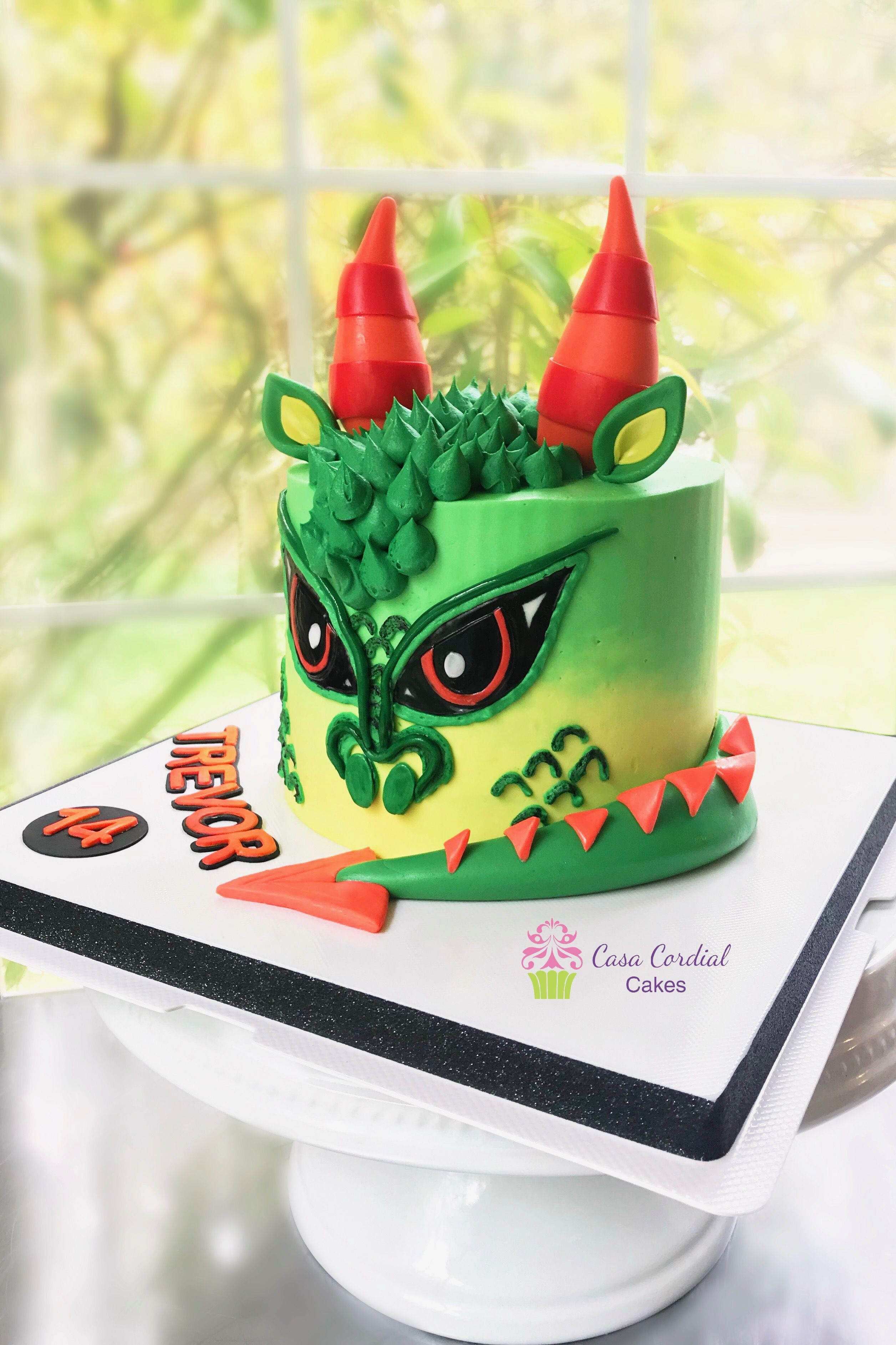 Groovy Dragon Inspired Cake With Images Dragon Birthday Cakes Dragon Funny Birthday Cards Online Alyptdamsfinfo