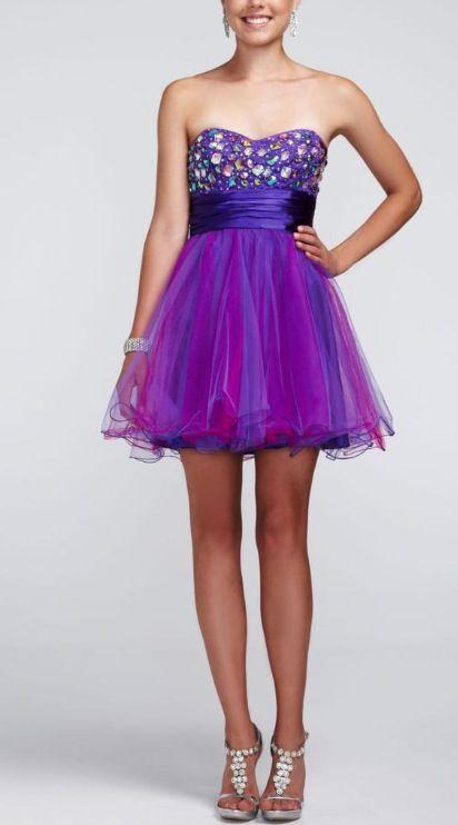David's Short Prom Dresses