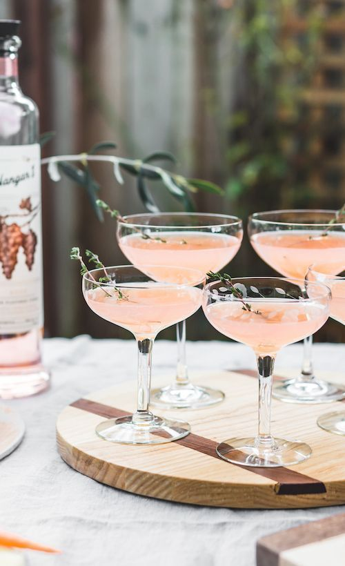 Elderflower Rosé Vodka Cocktail #beverages
