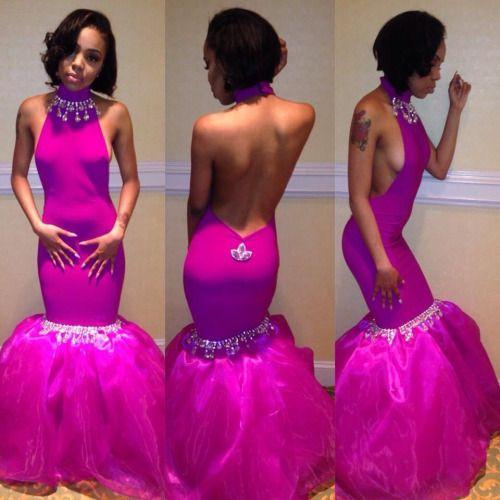 Red Carpet Runway Prom Dress Princess Magenta Colour Silver ...