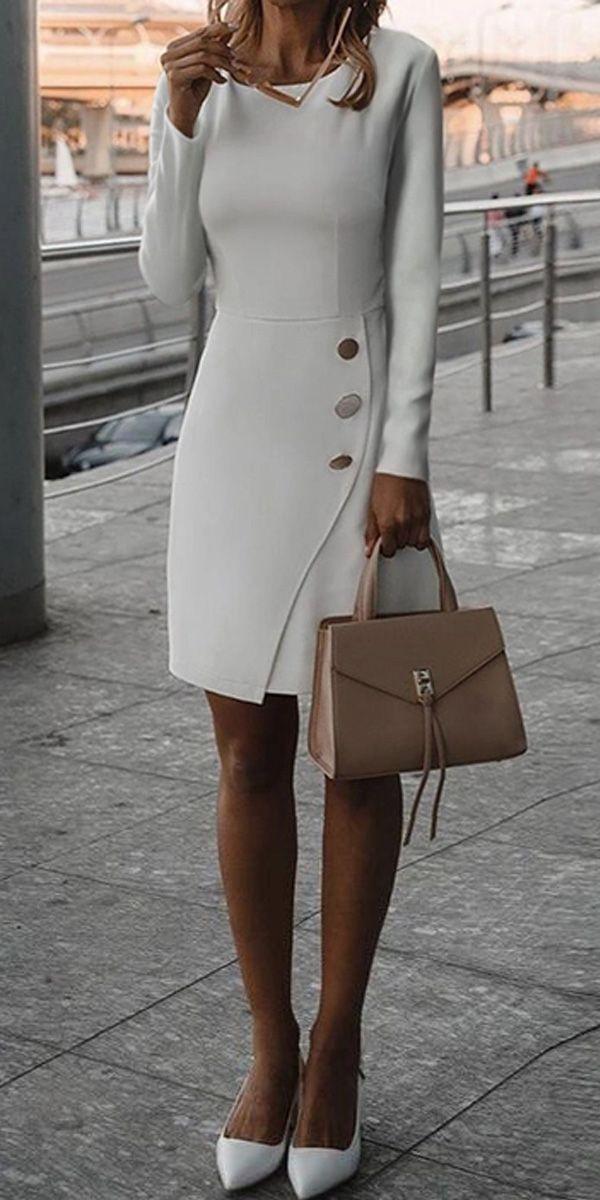 Unregelmäßiges figurbetontes Kleid #dressoutfits ...