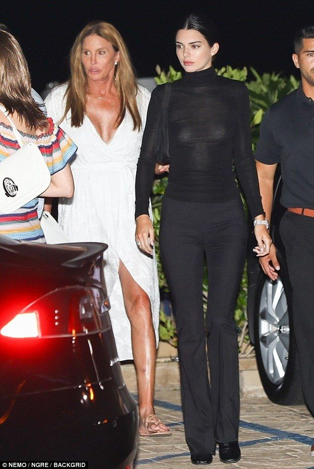 Kendall Jenner dons sheer top for dinner with fath