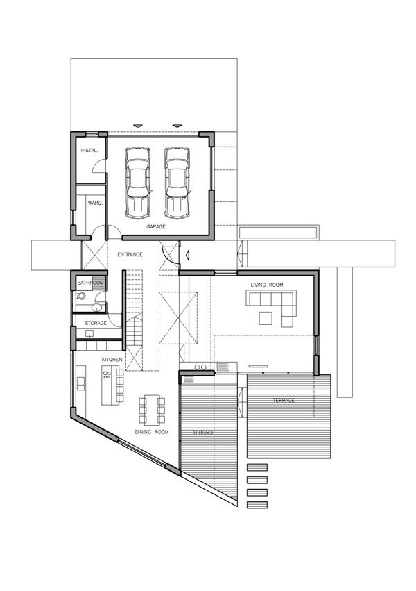 Home Design And Interior Design Gallery Of Exciting House Floor Plan T Shaped Floor Plan Residence Arsitektur