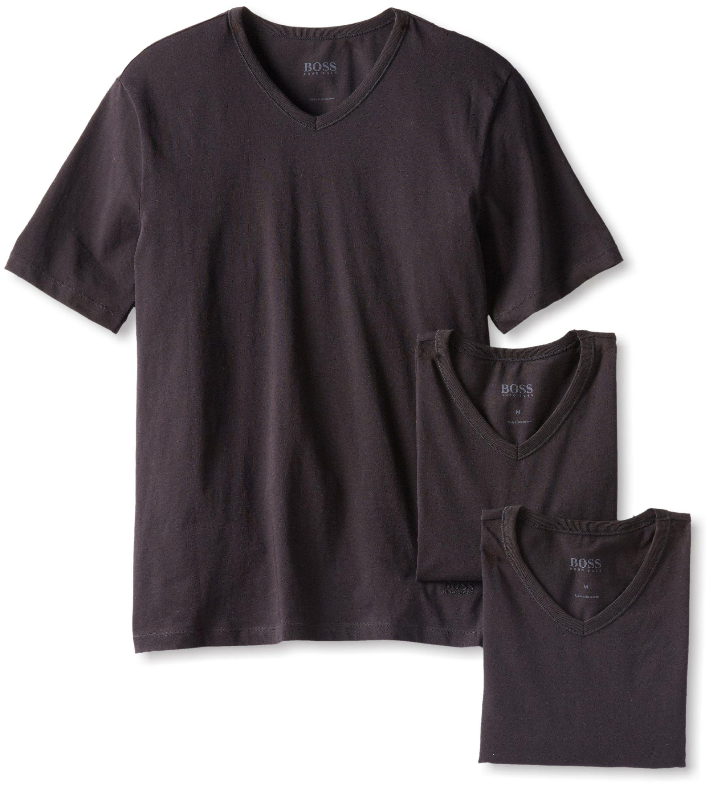 03772fc7cc4fd4 Amazon.com  BOSS HUGO BOSS Men s 3-Pack Cotton V-Neck T-Shirt  Clothing