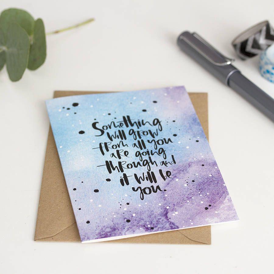 Grow Modern Sympathy Card Sympathy Cards Cards Hand Lettering