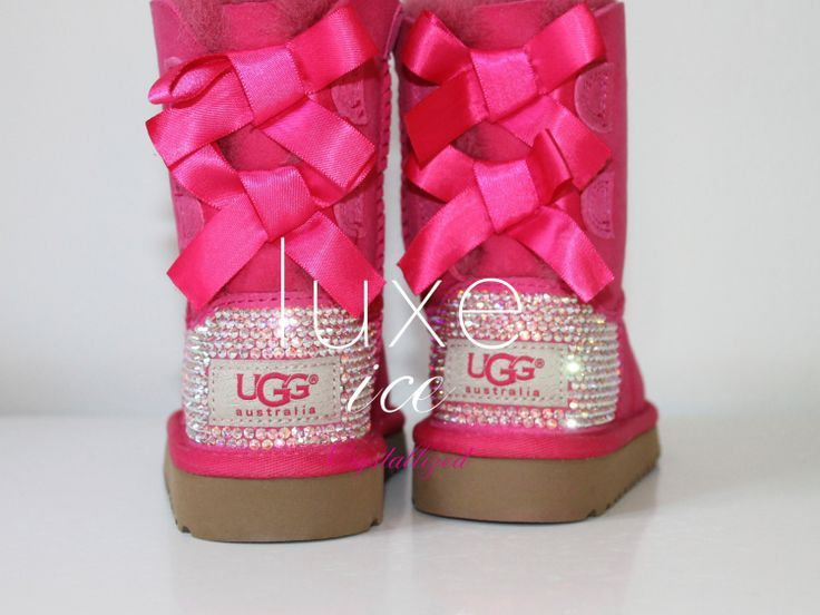 ugg boots with bows | Luxury Bailey Bow Ugg Boots made w Swarovski Crystals by luxeice, $324 .