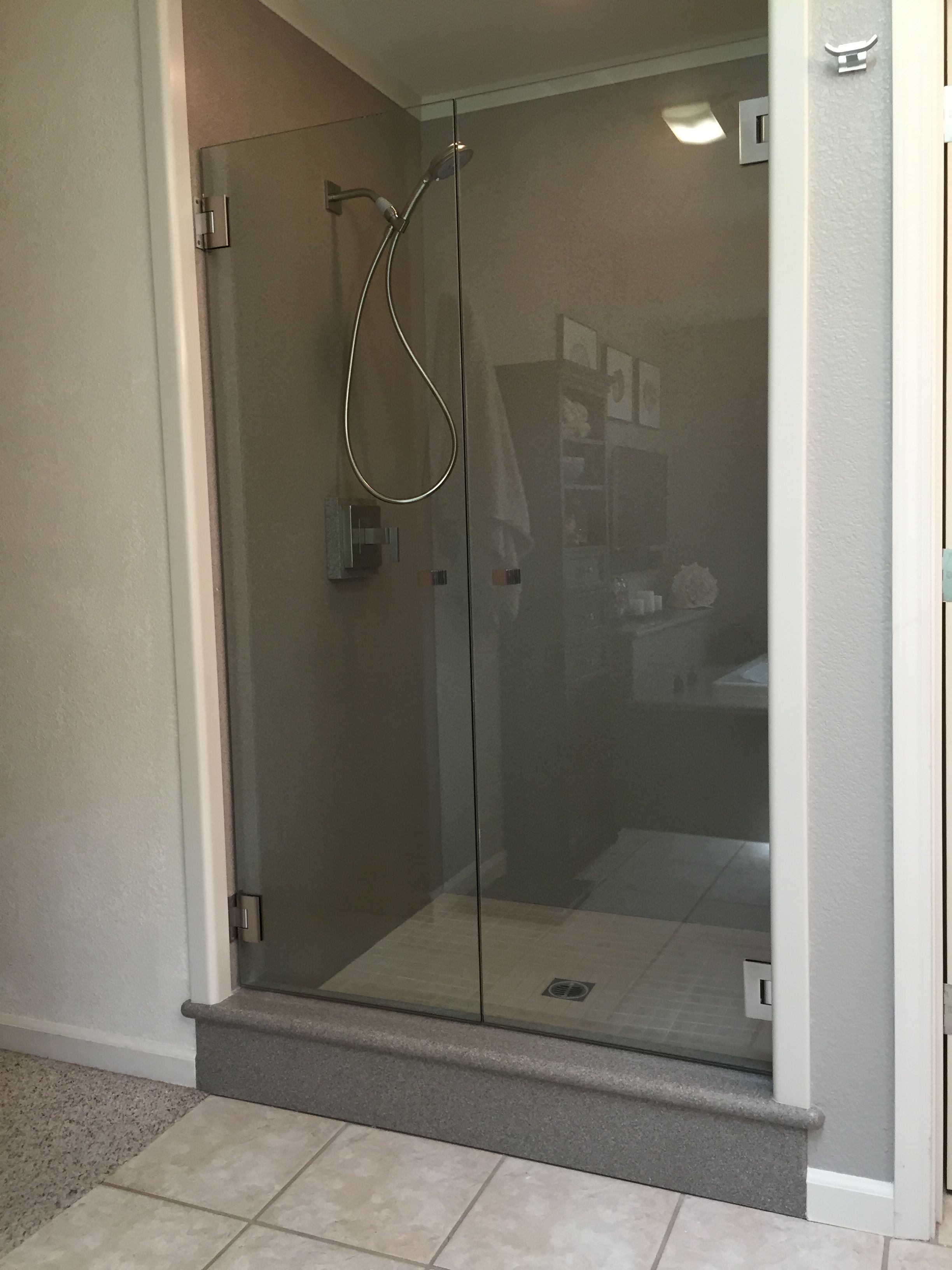 Saloon Style Shower Doors 3 8 Clear Gl With Brushed Nickel Hardware