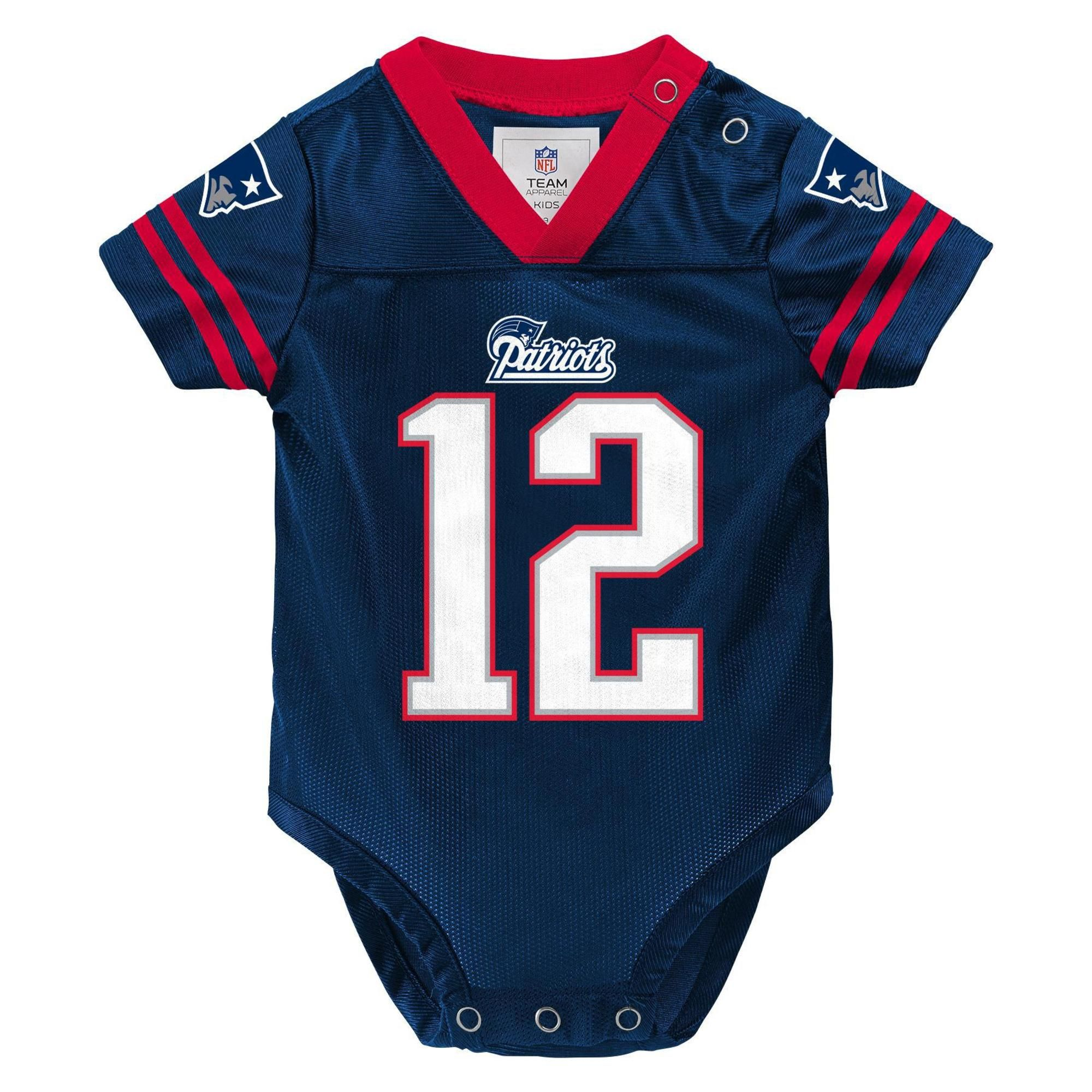 official photos fdcca 8423e NFL Infants' Player Jersey Bodysuit - New England Patriots ...
