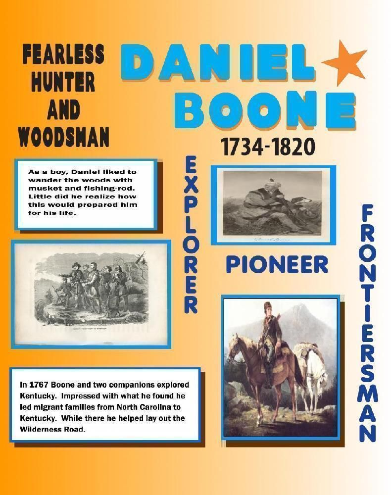Make a Daniel Boone Poster | History Project Poster Ideas | Projects ...