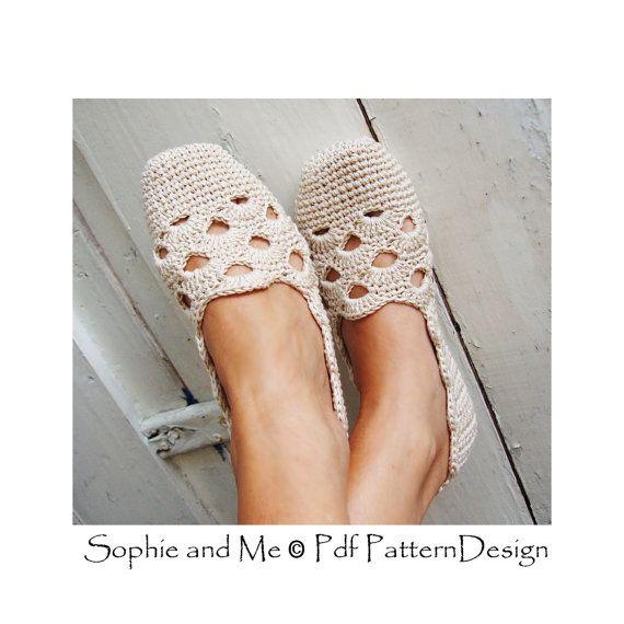 Venezia Slippers Basic Crochet Pattern - Espadrilles - Instant ...