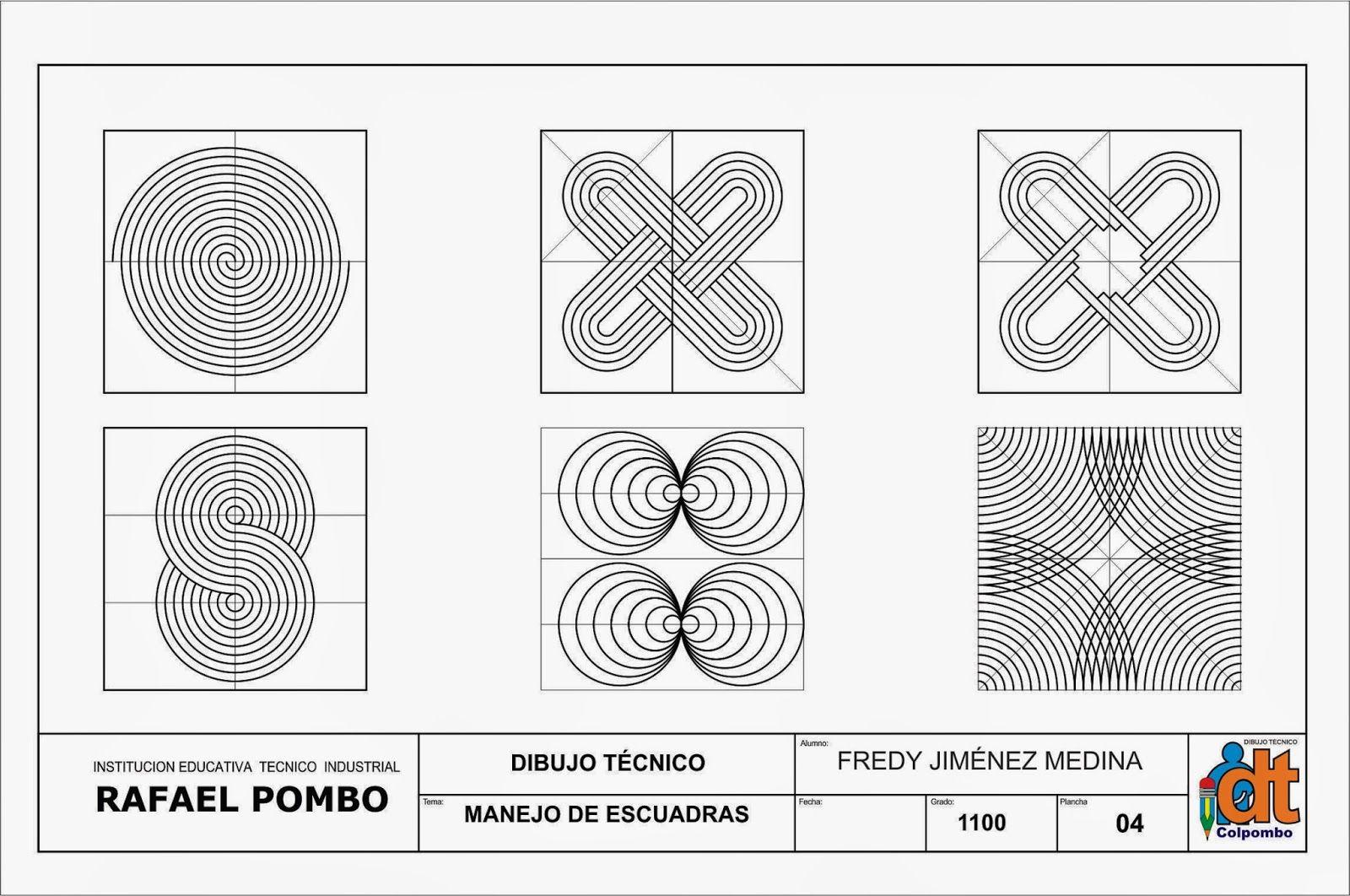 Estandar 4 Utilizar Adecuadamente Los Instrumentos Basicos De Dibujo Tecnico Y Elaborar Con E Tecnicas De Dibujo Lecciones De Arte Diseno Grafico Geometrico